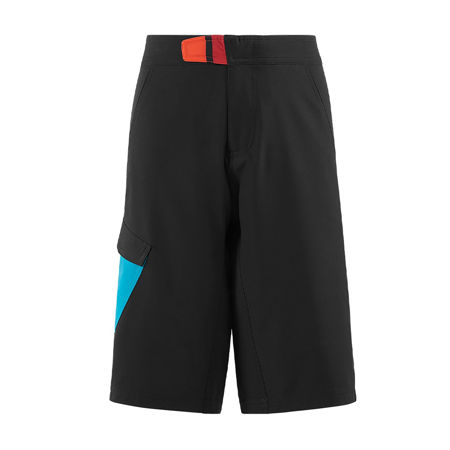 Picture of HLAČICE CUBE JUNIOR BAGGY SHORTS WITH LINER BLACK'N'BLUE'N'WHITE 11000