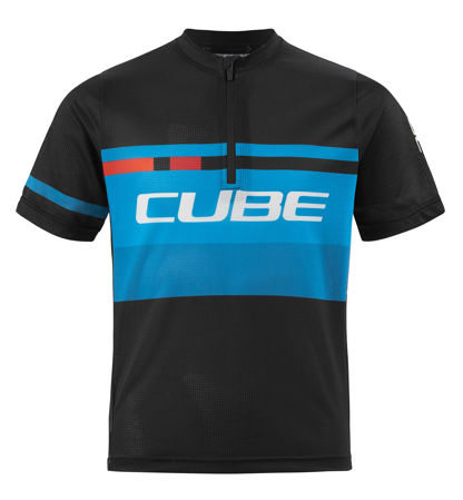 Picture of MAJICA CUBE JUNIOR TEAMLINE S/S BLACK'N'NBLUE'N'WHITE