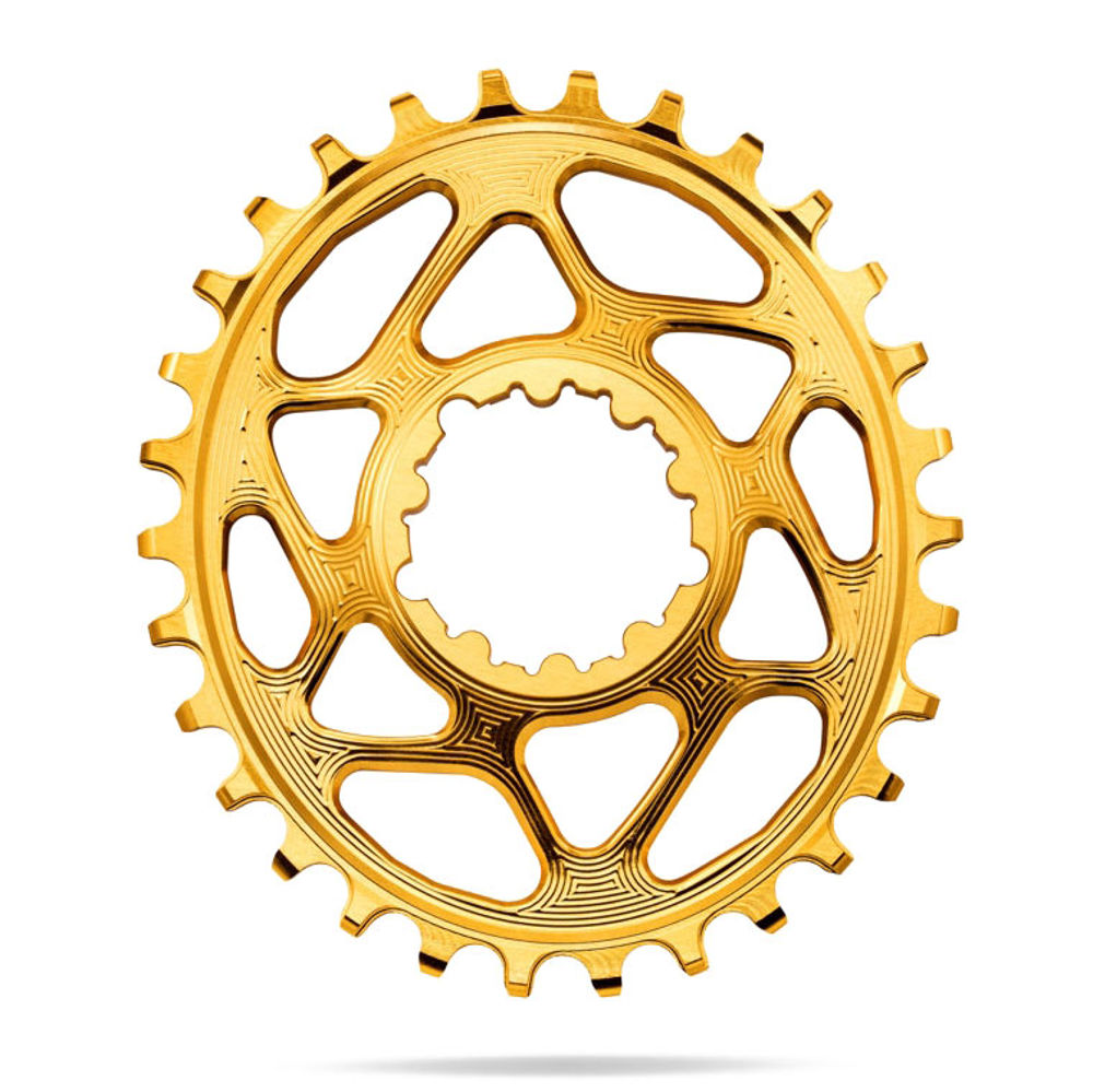 Picture of ZUPČANIK PREDNJI AB SRAM OVAL DIRECT MOUNT GXP (6MM OFFSET) / 34T / GOLD