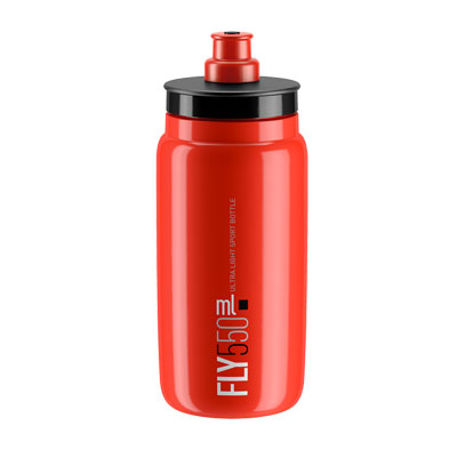 Picture of BIDON ELITE FLY RED 550ml BLACK LOGO