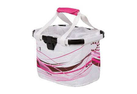 Picture of Košara prednja/torba s nosačem M-Wave White Fancy 20L