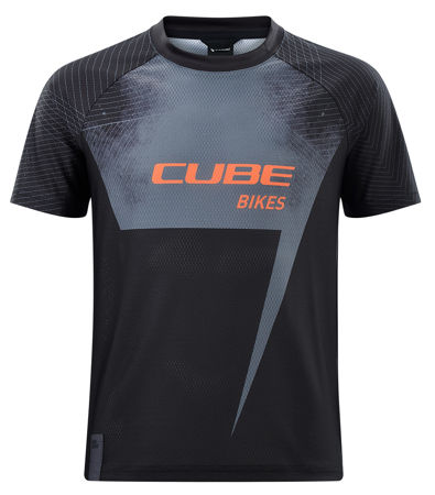 Picture of MAJICA CUBE JUNIOR S/S BLACK'N'ORANGE