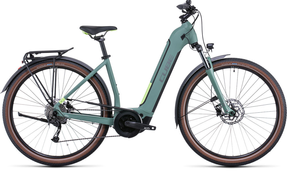 Picture of Cube TOURING HYBRID ONE 625 GREEN´N´SHARPGREEN EASY ENTRY 2022